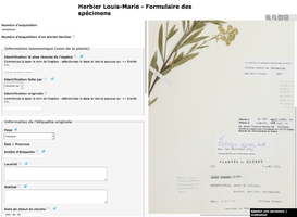 A citizen science platform for the digitization of specimens from the Louis-Marie Herbarium