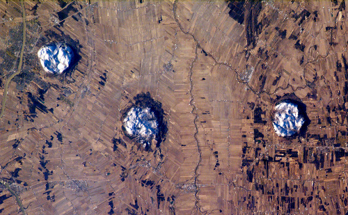 Monteregian hills from space